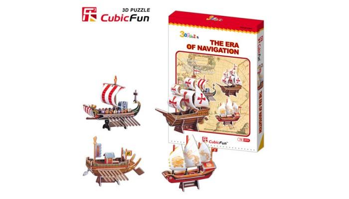Forntida Skepp - 4 olika fartyg
