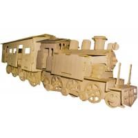 Ånglok I med 1 tågvagn