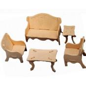 Dockhusmöbler - Vardagsrum