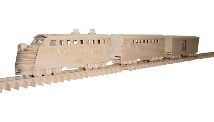 Tåg - Lok med vagnar och räls