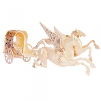 Sagovagn med flygande hästar