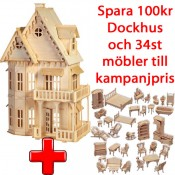 ! Kampanij - Dockhus Gothic Villa + 34st Möbler