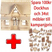 ! Kampanij - Dockhus Veranda + 34st Möbler