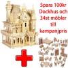 ! Kampanij - Dockhus Villa Fantasi + 34st Möbler
